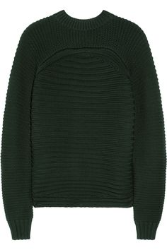 Alexander Wang|Ribbed cotton-blend sweater|NET-A-PORTER.COM