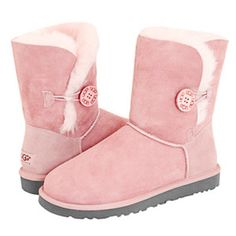 UGG Baily Button Women's Boots Pink 5803