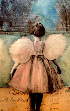 Entering Wonderland original mixed media painting by Maudstarr #painting art| http://my-awesome-paitings.blogspot.com