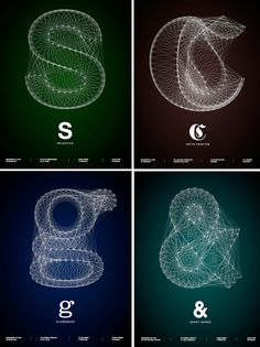 Galaxy Typography Posters from fubiz