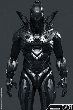 by UltraVD, cyberpunk, futuristic suit, future warrior epic cyborg Cyberpunk, Science Fiction, Zbrush, Armor Concept, Concept Art, Millenium, Futuristic Armour, Futuristic Helmet, Arte Robot