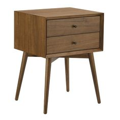 Exactly what I have been looking for. Mid-century nightstand from West Elm.