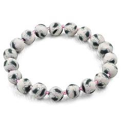 Fashion Handmade Fimo Polymer Clay Flower Beads Stretchable Bracelet Polymer Clay Flowers, Steel Jewelry, Beaded Flowers, Fashion Bracelets, Mystic, Beads, Silver, Handmade, Fimo
