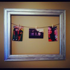 Made my own DIY close pin picture frame! Love it!