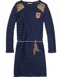Scotch R`Belle - Jersey Dress + Feather Belt