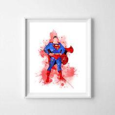 Superman, Superman nursery art, Superman printable, printable Superman art, Superman poster, Superman art, watercolor Superman Superman Poster, Superman Superman, Crown Printable, Printable Art, Printables, Superman Nursery, Solar System Art, Bar Art, Dog Silhouette