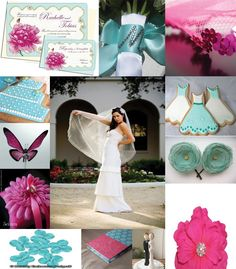 A color combination I haven't thought about yet, pink and teal