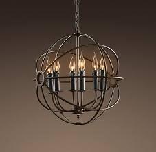 rustic chandelier - living room casual