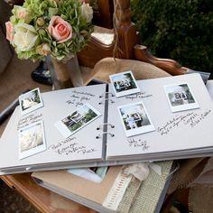 Polaroid guest book | photographer: Wendy Cunningham
