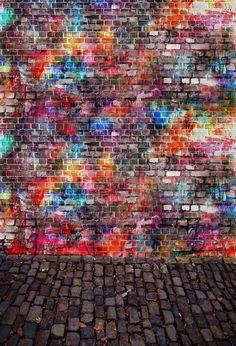 Scenic Backdrops Urban Scenes Graffiti Background Brick Wall J04248