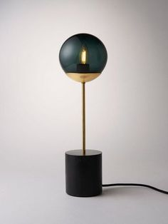 Line Table Lamp : This lamp is designed to be a table lamp or bedside lamp. This lamp combines Douglas and Bec's signature timber aesthetic with tinted glass and brass. Exterior Lighting, Home Lighting, Modern Lighting, Lighting Design, Table Lighting, Light Table, A Table, Table Lamps, Douglas And Bec