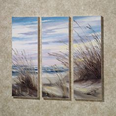 North Sea Coast Canvas Set  Set of Three on Touch of Class
