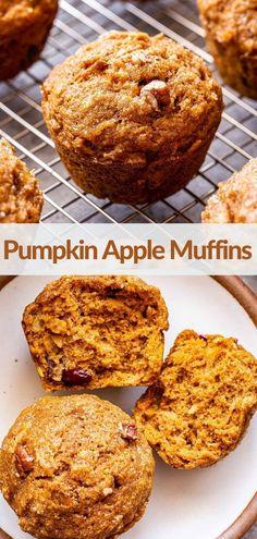Pumpkin Pecan Pie, Pumpkin Spice Muffins, Pumpkin Spice Syrup, Apple Muffins, Pumpkin Recipes, Fall Recipes, Apple Recipes, Thanksgiving Recipes, Best Breakfast Recipes