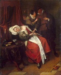 Doctor's Visit - Jan Steen  -  Completion Date: c. 1660