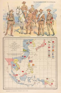 Map of the China Seas Showing Philippine Islands and Adjacent Countries with European Colonial Possessions Under Their National Flags Century, Asia, China, Colonialism, Europe) 28mm Miniatures, Asia Map, British Schools, Alternate History, Old Maps, Vintage Maps, European History, Historical Maps, National Flag