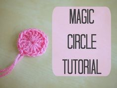 How to Crochet a Magic Ring. A magic ring is an adjustable starting round used for crochet amigurumi patterns, granny squares and other patterns that work in crochet rounds. You can either make a standard magic ring or a double magic ring,. Magic Circle Crochet, Magic Ring Crochet, Crochet Circles, Crochet Circle Pattern, Crochet Crafts, Crochet Yarn, Easy Crochet, Crochet Projects, Crochet Tutorials
