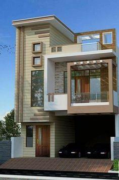 66 Beautiful Modern House Designs Ideas - Tips to Choosing Modern House Plans Modern Exterior Design Ideas Luxury Home Bungalow Haus Design, Duplex House Design, House Front Design, Small House Design, Modern House Design, Independent House, Front Elevation Designs, House Elevation, Style At Home