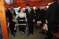 Standing among the friends and family gathered at the Jan. 1 wedding of Michaela Bushey and Kyle Devins were three Pennsylvania rehabilitation specialists.