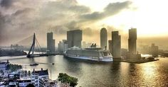 The Oasis of the Seas, worlds largest cruise ship, in Rotterdam