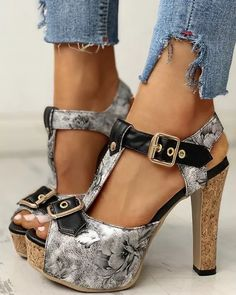 Women High Heels Pumps Platform Peep Toe Sandals Vintage PU Leather Gladiator - Classic design that is sure to compliment every modern woman's wardrobe. Update your wardrobe by grabbing one of these cuties. #heelswithjeans #heelsprom #icuteshoes #blockheelsoutfit #blockheelsoutfitjeans #blockheelsoutfitjeansstreetfashion #heelsclassyelegant #heelsclassyelegantoutfit #heelsoutfits #heelsoutfitscasual #heelswithjeansoutfit High Heel Pumps, Pumps Heels, Brand Name Shoes, Peep Toe Platform, Spike Heels, Trendy Shoes, Toe Shape, Womens High Heels, Chunky Heels