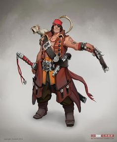 Pirate concept   male-pirate-concept-art-by-andre-mealha - Digital Design and Graphics ...