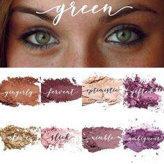 Green Eyes Pop, Hazel Green Eyes, Eyeshadow For Green Eyes, Best Eyeshadow, Makeup For Green Eyes, Hazel Eyes, Colorful Eyeshadow, Eyeshadow Makeup, Eyeshadow Palette