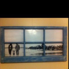 Repurposed window pane...love this idea...