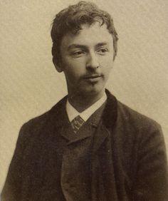 portrait of Danish painter Wilhelm Hammershoi, Copenhagen library
