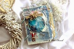 Vintage Winter Mini Album - Maja Design eleele -handmade Such a pretty little album