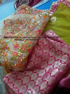 Discover thousands of images about Pink brocade gota salwar suit Punjabi Salwar Suits, Pakistani Dresses, Indian Dresses, Indian Outfits, Indian Designer Suits, Designer Salwar Suits, Punjabi Fashion, Asian Fashion, Pinafore Pattern
