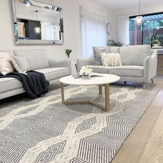 Made from wool, this luxuriously soft rug is exactly what you'll need underneath your feet on chilly winter nights like these ❄️❄️ Now… Winter Night, New Builds, Living Area, Dining Bench, New Homes, Rugs, Apartment Styles, Inspiration, Furniture