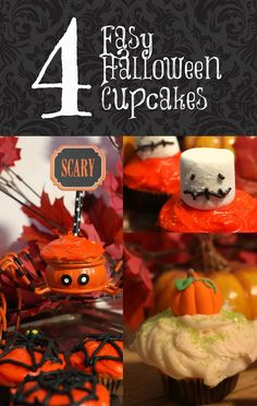 4 Ideas for Easy Halloween Cupcakes! - Virtually Yours