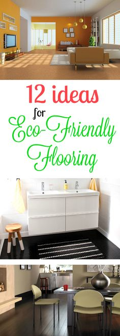 12 Ideas for Eco-Friendly Flooring: Green flooring is one of the most sought after items on the flooring market. Discover 12 unique ideas for environmentally friendly flooring that don't sacrifice style! Eco Friendly Flooring, Eco Friendly House, Contemporary Interior, Modern Interior Design, Home Gym Flooring, Basement Flooring, Kitchen Flooring, Eco Friendly Cleaning Products, Rubber Flooring