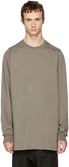 Rick Owens - Grey Crewneck Sweater
