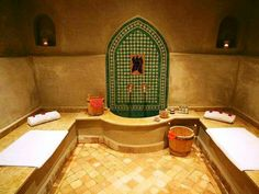 On this break in Marrakech enjoy a guided visit, and experience an authentic private Moroccan hammam complete with an invigorating body soap scrub and a relaxing massage with essential oils. A session of Moroccan hammam will revive you as your Marrakech, Spa Hammam, Moroccan Bathroom, Modern Bathroom, Dream Bath, Turkish Bath, Moroccan Design, Steam Room, Steam Showers