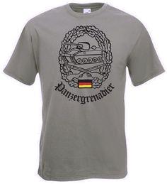 Bundeswehr T-Shirt Panzergrenadier in oliver Farbe / mehr Infos auf: www.Guntia-Militaria-Shop.de