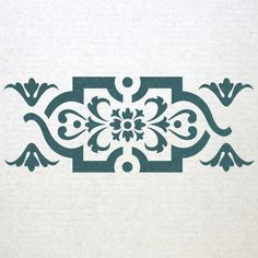 Wall Border stencils Pattern 013 Reusable Template for DIY wall decor Stencil Fabric, Damask Stencil, Stencil Patterns, Stencil Art, Stenciling, Stencil Templates, Wall Borders, Types Of Craft, Diy Décoration