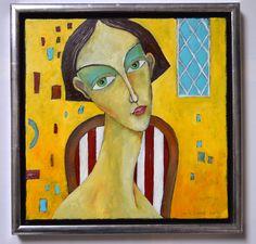 Claudia - oil on canvas - Miroslaw Hajnos