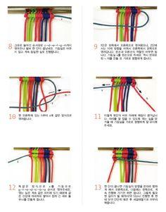 [미산가 실팔찌] 가로엮기를 이용한 스트라이프 실팔찌 만드는법 : 네이버 블로그