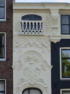 balcony in Louis XIV style - Kloveniersburgwal 103, Amsterdam