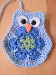 Crochet African Flower Owl -Pphoto Tutorial ❥ 4U // hf