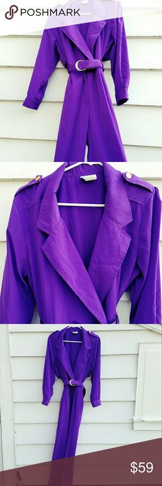 Vintage Purple Jumpsuit Vibrant purple jumpsuit  / romper from the early 90's Has gold buttons and pockets! Would fit a size small - medium as the belt is adjustable.   In excellent condition!    Tags Grunge goth pastel vintage retro high waist alternative rock punk 80's 90's 1990 1980 Vintage Other