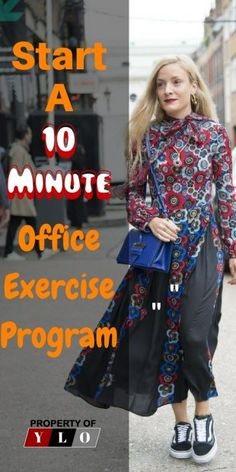 Feel better with a 10 minute daily exercise program at your office. Excercise Excercise for Women workout Fitness for women office workout office exercise office yoga yoga