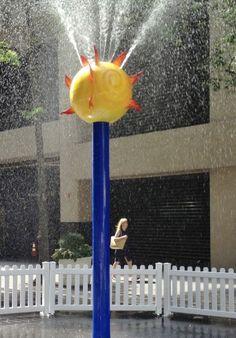 My Splash Pad Sun Spray Water Play Features-Daycare splash park Sensory Wall, Sensory Boards, Backyard Splash Pad, Home Daycare, Daycare Rooms, Water Playground, Splash Park, Kid Pool, Flower Shower