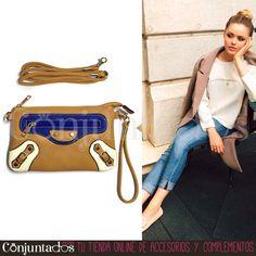 Precioso bolso de mano -también con asa en tono camel para bandolera- que va de maravilla con estilos casual y todoterreno ★ Precio: 11,95 € en http://www.conjuntados.com/es/bolsos/bolsos-de-mano/bolso-de-mano-tricolor-con-fondo-camel.html ★ #novedades #bolso #handbag #bandolera #bolsobandolera #purse #crossbodybag #fashion #complementos #moda #estilo #style #GustosParaTodas #ParaTodosLosGustos