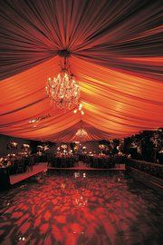 Red Wedding - light and fabric
