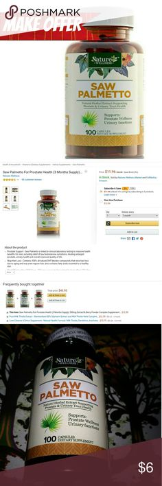 ??EARANCE! Urinary Health, Hair Loss & More Prostate Support - Saw Palmetto is linked in clinical laboratory testing to massive health benefits for men, including relief of low testosterone symptoms, treating enlarged prostate, urinary health and overall improved quality of life.  Stop Hair Loss - Contains 100% all-natural DHT blocker compounds that slow hair loss due to aging and may even regrow hair; also contains fatty acids essential to a healthy diet.  *BUNDLE TO SAVE! BUNDLE…