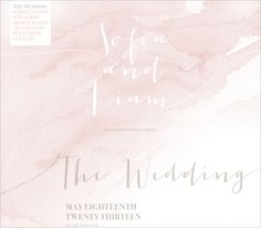 Wedding Website / Lucent Collection / Color Wash, Calligraphy
