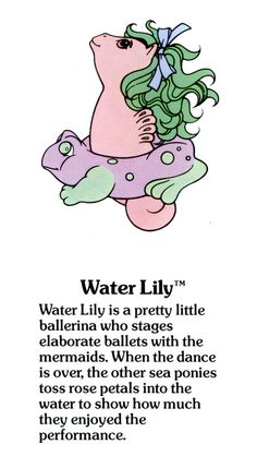 My Little Pony Water Lily fact file ...