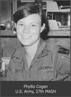Army Nurse, Phyllis Cogan, 27th Surgical Hospital, Chu Lai, Vietnam.